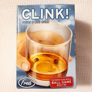 Fred Clink! Rocks Glass with a Ball Game Built-in!